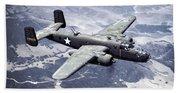 B-25 World War II Era Bomber - 1942 Beach Towel