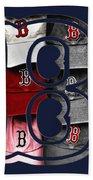 B For Bosox - Boston Red Sox Beach Towel by Joann Vitali