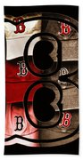 B For Bosox - Vintage Boston Poster Beach Towel