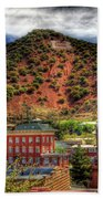 B Hill Over Historic Bisbee Beach Towel