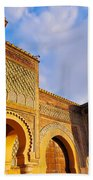 Bab Mansour In Meknes In Morocco Beach Towel