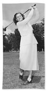 Babe Didrikson Golfing Beach Towel