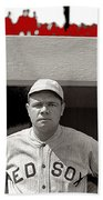Babe Ruth As Member Of The Boston Red Sox National Photo Company Collection 1919-2013 Beach Towel