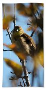 Baby American Goldfinch Learning To Fly Beach Towel