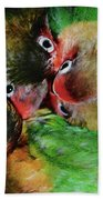 Baby Bird Nest In Hong Kong Bird Market Beach Towel