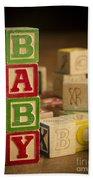 Baby Blocks Beach Sheet