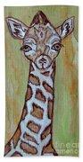 Baby Longneck Giraffe Beach Towel