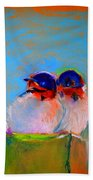 Baby Swallows Beach Towel by Sue Jacobi