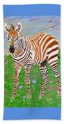 Baby Zebra Beach Towel
