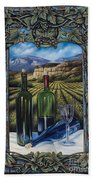 Bacchus Vineyard Beach Towel