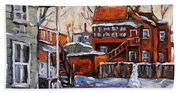 Back Lanes 02 Montreal By Prankearts Beach Towel