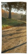 Back Road Morning Beach Towel by Bill Wakeley