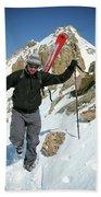 Backcountry Skiing, Citadel Peak, Co Beach Towel