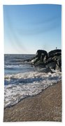 Backwash On Sunset Beach Cape May Beach Towel