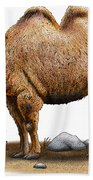 Bactrian Camel Beach Towel