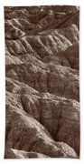 Badlands Light Bw Beach Towel
