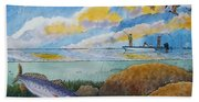 Fishing Baffin Bay Texas  Beach Towel