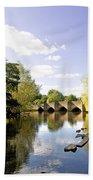 Bakewell Bridge - Over The River Wye Beach Towel