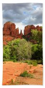 Balance At Cathedral Rock Beach Towel by Carol Groenen