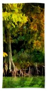 Bald Cypress 2 - Digital Effect Beach Towel