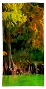 Bald Cypress 4 - Digital Effect Beach Towel