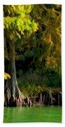 Bald Cypress Trees 1 - Digital Effect Beach Towel