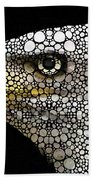Bald Eagle Art - Eagle Eye - Stone Rock'd Art Beach Towel by Sharon Cummings