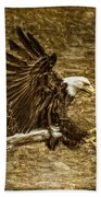 Bald Eagle Capture Beach Towel