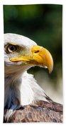 Bald Eagle Profile Beach Towel