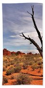 Bald Tree At Arches  Beach Towel
