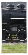 Baldwin 0-6-0 Steam Locomotive - Gorham New Hampshire Beach Towel