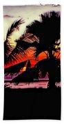 Bali Sunset Polaroid Transfer  Beach Towel