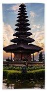Bali Water Temple 2 Beach Sheet