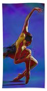 Ballerina On Point Beach Towel