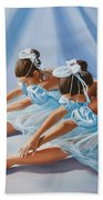 Ballet Dancers Beach Towel by Paul Walsh