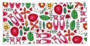 Ballet Scribble Fleur Beach Sheet