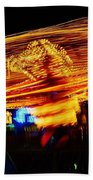 Ballons Ride At Night Beach Towel