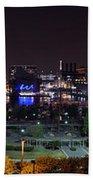 Baltimore Inner Harbor Skyline Night Panorama Beach Towel