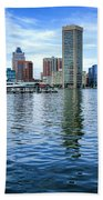 Baltimore On The Water Beach Towel