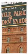 Baltimore Orioles Park At Camden Yards Beach Towel by Frank Romeo