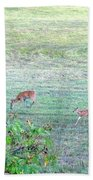 Bambi And The Twins  Beach Towel