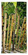 Bamboo Fencing Beach Towel by Lilliana Mendez