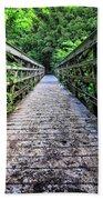 Bamboo Forest Bridge Beach Towel