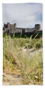 Bamburgh Castle From The Dunes Beach Towel