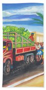 Banana Delivery In Cameroon 02 Beach Towel