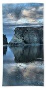 Bandon Beach Sunset Reflections Beach Towel