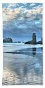 Bandon Sea Stack Reflections Beach Towel