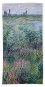 Banks Of The Seine At Vetheuil Beach Towel