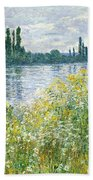 Banks Of The Seine Vetheuil Beach Towel