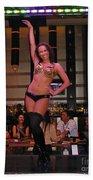 Bar Top Dancer In Las Vegas Beach Towel